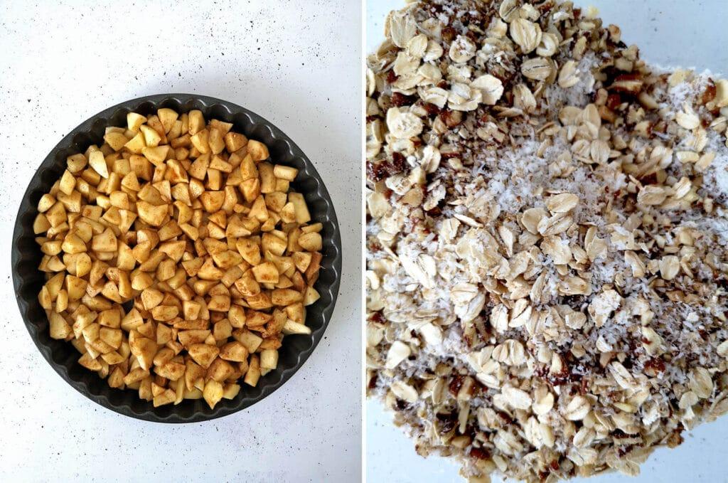 Easy Vegan Apple Crisp Ingredients