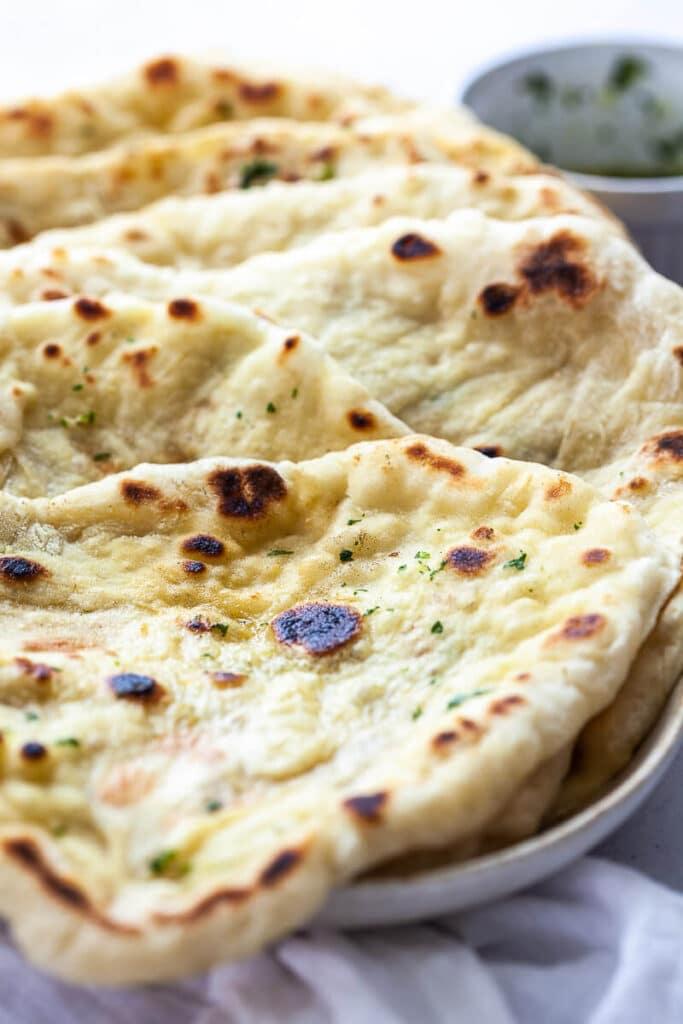 Homemade Vegan Garlic Naan Bread