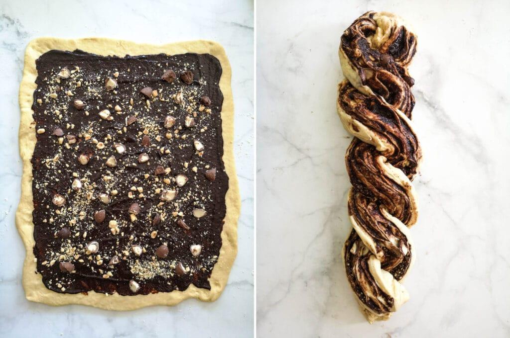 Vegan Chocolate Babka Instructions