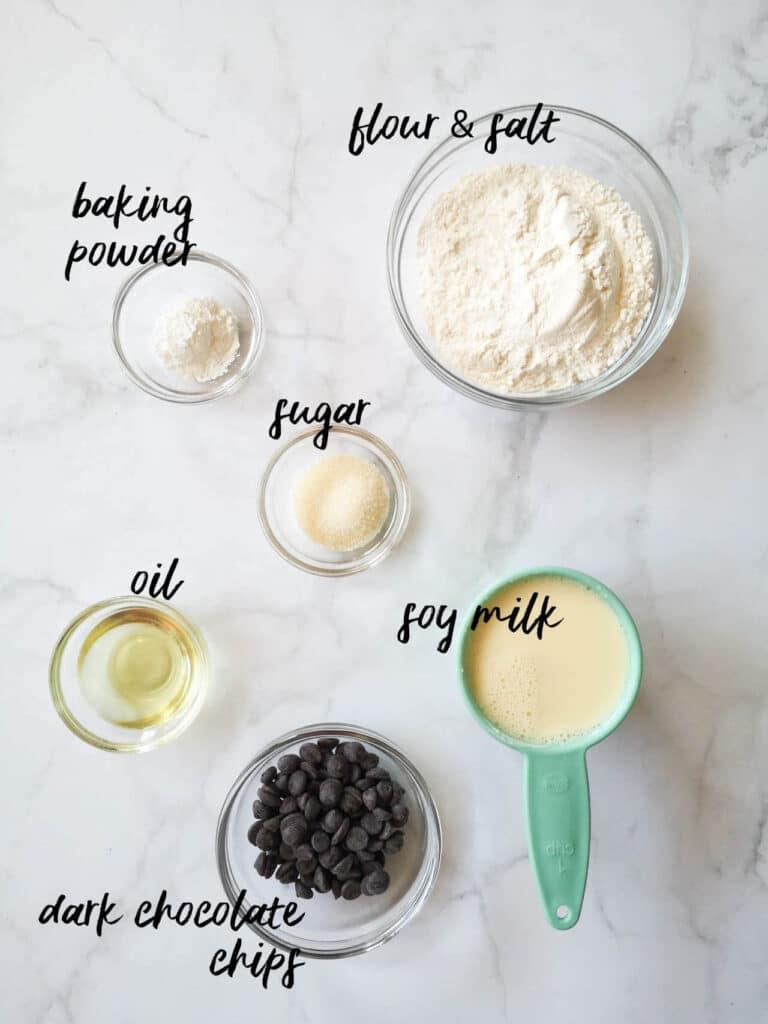Vegan Chocolate Chip Pancakes Ingredients