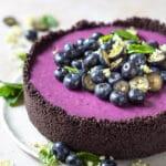 No-Bake Vegan Blueberry Pie
