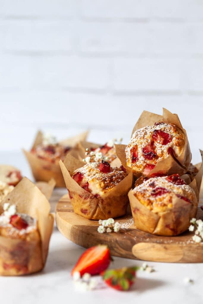 Vegan Breakfast Strawberry Muffins
