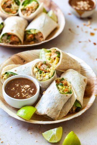 Vegan Thai Chicken Wraps