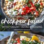 Chickpea Salad with Yogurt Dressing