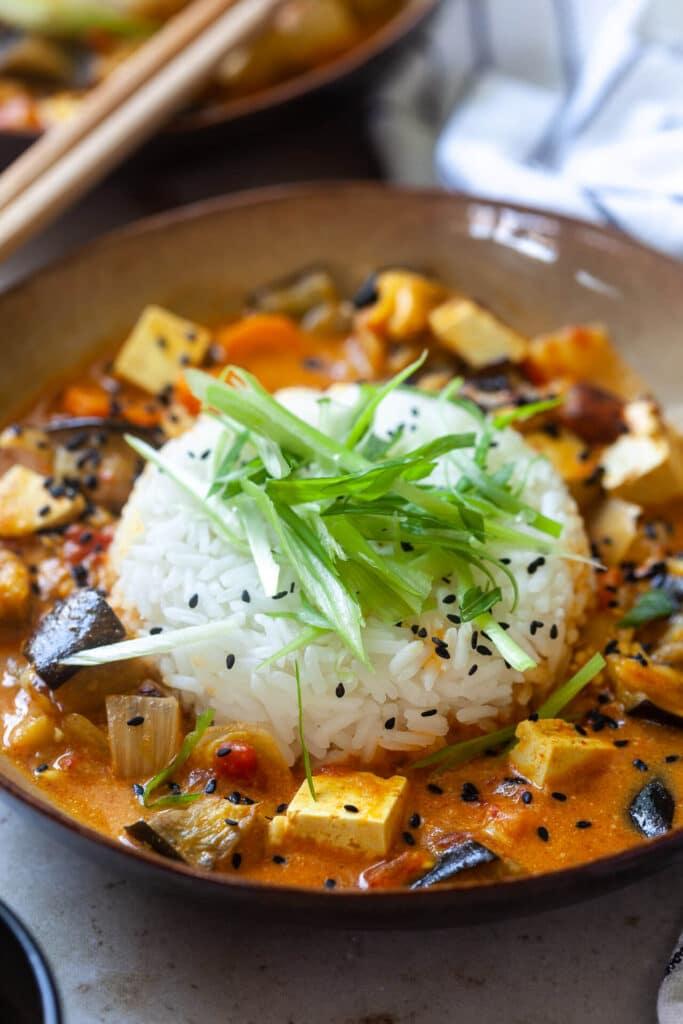 Roasted Eggplant and Tofu Curry
