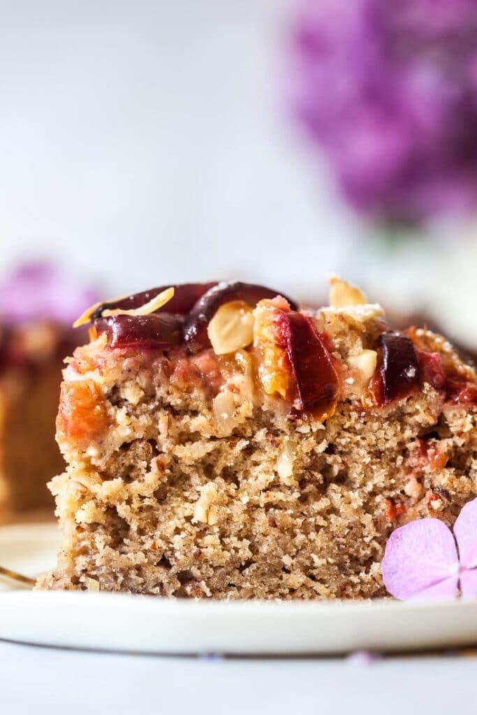 Vegan Plum and Cinnamon Cake