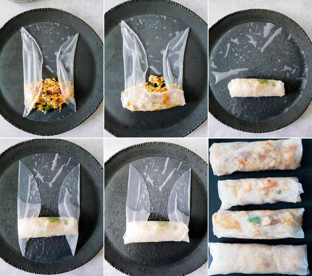 Pan-Fried Tofu Spring Rolls Step by Step Photos